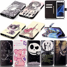 PU Leather Flip Stand Card Wallet Pouch Bump Cover Case For Various Phone Models