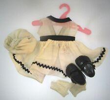 "Vtg Creamy White Dress Bloomers Socks for 8"" Vogue Dolls Ginny Plastic Shoes Set"