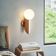 Modern Glass Ball LED Wall Lamp Brass Wall Sconce Wall Light Bedroom Fixture