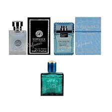 Versace Mens EDT Miniatures 0.17oz Set of 3, Pour Homme, Man Eau Fraiche,Eros