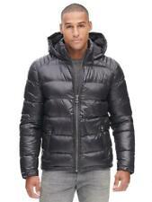 Guess Smoke Gray Puffer Down Jacket w/ Removable Hood - Men's L NEW