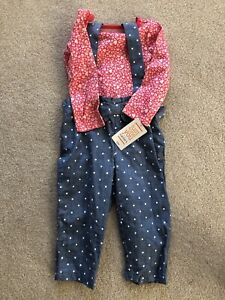 Just One You by Carters Floral Pink Overall Set Baby Girl 12Mon. - New With Tags