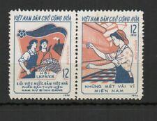 Vietnam du Nord 1974 mouvement des femmes 2 timbres neufs se tenant MNH /TR8426