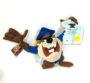 Looney Tunes Tazsanian Taz Graduate Stuffed Doll Nanco Acme University 9""