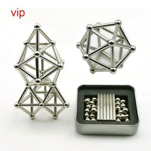 Creative Magnetic Sticks And Steel Spheres Constructor Toys Building Models