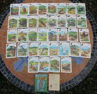 Quartett Kartenspiel Geschützte Tiere Verlag für Lehrmittel Pößneck DDR