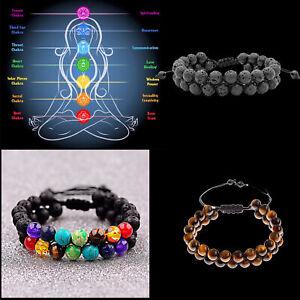 7 Chakra Reiki Bracelets Stress Relieve Anxiety Women Men Bracelets US Stock