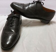Stanley Blacker Full Brogue Black Leather Dress Shoes Sz 10 Oxford England