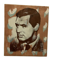 """Dolan Geiman Cary Grant Original Mixed Media PaintIng On Wood 10"""" 2005 Signed"""