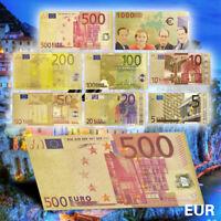 WR 24K Gold Euro Banknote Money Set €5 €10 €20 €50 €100 €1000 Certificate