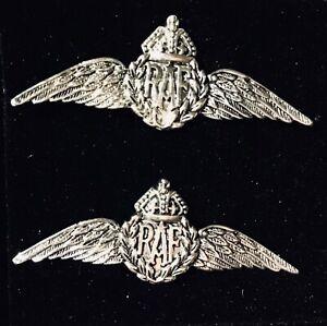 STERLING SILVER RAF Wings Sweetheart Tbar cufflnks &  Gift box