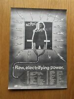 """AC/DC POWERAGE  11"""" x 15"""" FULL PAGE MAGAZINE ADVERT UK 1978 ANGUS YOUNG POSTER"""