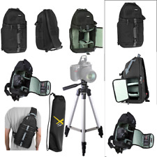 "FULL SIZE 50"" TRIPOD + VIVITAR SLING BACKPACK FOR NIKON D3000 D3100 D3200 D3300"