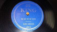 "MARIE HENDERSON The Key To My Door / I Want A Rich Man's Son 10"" 78 King 4206"