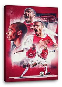 THIERRY HENRY BB5 ARSENAL CANVAS Wall Art Poster Print 30x20 CANVAS
