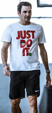 "NIKE RF ROGER FEDERER ""JUST DO IT"" EMOJI SHIRT.. WHITE/ RED.. VERY RARE ITEM!!"