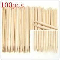 Lots 100Pcs Wood Stick Nail Art Cuticle Pusher Remover Pedicure Manicure Tool