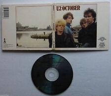 U2 OCTOBER CD ALBUM US DIGIPACK Made in 1980's
