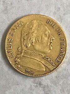 FRANCE - 20  FRANCS - OR - LOUIS  XVIII - 1815 - Buste habillé - L