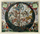 """Beautiful Ancient Map of the Universe and Zodiac CANVAS ART PRINT 24""""X18"""" #5"""