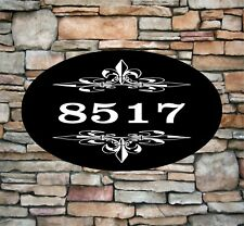 "Personalized Home Address Sign Aluminum 12"" x 7"" Custom House Number Plaque OV5"