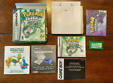 Pokemon Emerald Version Nintendo Game Boy Advance GBA Complete in Box