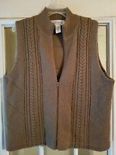 Jones Wear Sport Ladies Fall/Winter Vest Brown Tan Size XL Warm