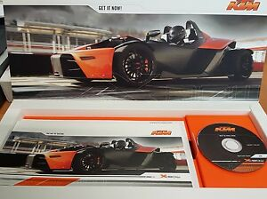 KTM X BOW LAUNCH PRESENTATION BOX WITH 3 INCH CD ROM PLUS POST CARDS 2007