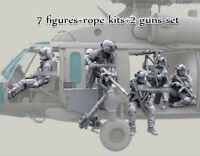 1/35 resin HH-60G Pave Hawk Helicopter Crew set (NO PLANE) 7 Figures +Rope+Guns