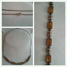 particolarespeciale COLLANA DI AMBRA 925er argento accessori in collier