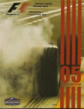 2005 Formula-1 United States Grand Prix Program F-1 Michael Schumacher Ferrari