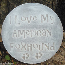 American Foxhound plaque mold garden ornament stepping stone