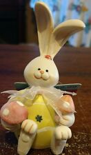 Cottondale Resin Yellow Egg Bunny Spring Feet Decorative Easter Holiday Figure
