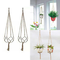90cm Flowerpot Holder Plant Hanger Basket Hanging Vintage Knotted Lifting Rope b