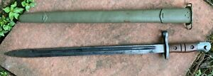 WW1 US Model 1913/17 M1917 British Enfield Bayonet & Scabbard Fits Model of 1917
