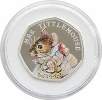 2018 Royal Mint Mrs Tittlemouse 50p Fifty Pence Silver Proof Coin Box Coa