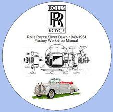 Rolls Royce Silver Dawn 1949-1954 Factory Workshop Manual