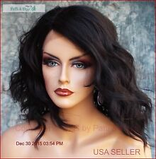 LOOSE BEACHY WAVES WIG HEAT SAFE STUNNING MED LENGTH BLACK 1B  US SELL 459
