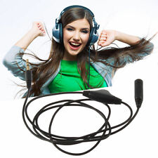 3.5mm 3M M/F Stereo Audio Headphone Extension Aux Cord Cable & Volume Control