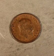 1902 Great Britain 1/2 Farthing Token Coronation Bronze ** FREE U.S. SHIPPING **