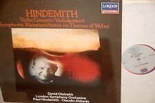 DAVID OISTRAKH*HINDEMITH*Violin cto*DECCA HOLLAND (SXL 6035 UK)*HINDEMITH*NM