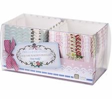 12 Frills & Frosting floral square baker's moulds pink blue cupcake baking cases