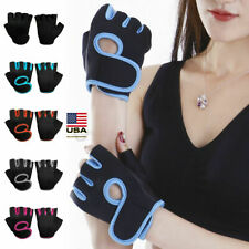 Men Lady Half Finger Work Out Gym Gloves Sport Weight  Lifting Exercise Fitness