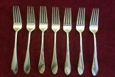 Lot of 7 Gorham MEREDITH 18/8 Stainless Dinner Forks