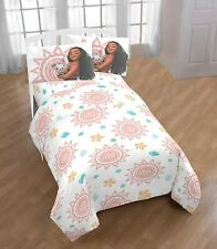 Disney Moana & Pua Spring Microfiber 3 Piece Twin Size Bed Sheet Set New