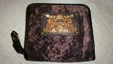 juicy couture wallet velour snakeskin print
