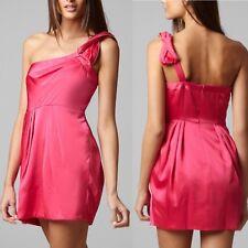BCBG MAX AZRIA Monaco Azalea Pink Zipper One Shoulder Party Dress 4P $248