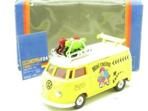 Tomica Dandy Diecast F24 VW Volkswagen Van Mini Racing Yellow 1 43 Scale Boxed