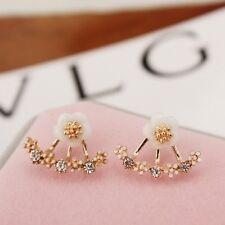 Orecchini di bigiotteria rosa in lega di cristallo