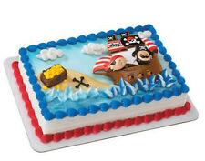 Little Pirates Ship Jolly Roger cake decoration Decoset cake topper set toys